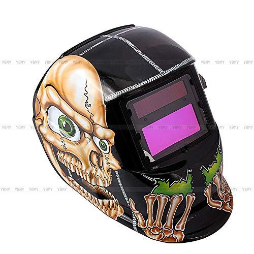Preisvergleich Produktbild Schweißhelm Solar Automatik Schweißmaske Schweißschirm Helm Knochenmann AI 01mit UV / IR-Schutz Automatik Einstellbar