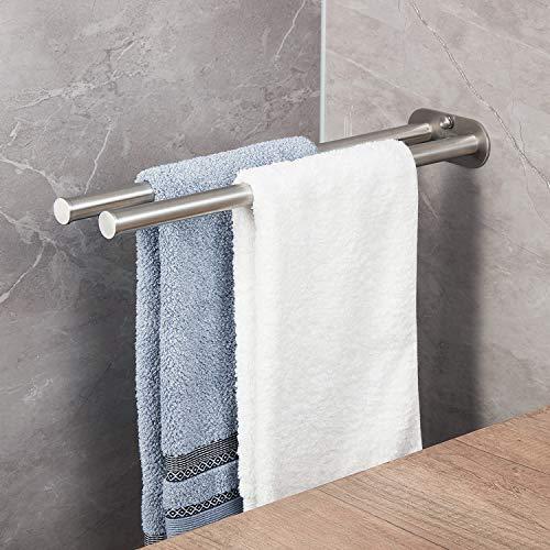 JS Zweiarmig Handtuchhalter Bad Handtuchstange Edelstahl Doppelt 40cm Wandmontage -