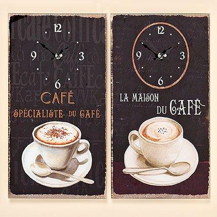 Wanduhr Coffee Küchenuhr Glasuhr Wanddekoration Uhr Bilderuhr Glasbilder 2136000 (la Maison du Cafe)