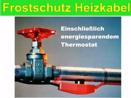 Frostschutz Heizkabel   Frostschutzkabel Heizband Rohrbegleitheizung 37m 550 Watt