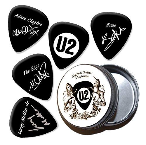 U2 Black Púas de guitarra con estaño Tin (HB)