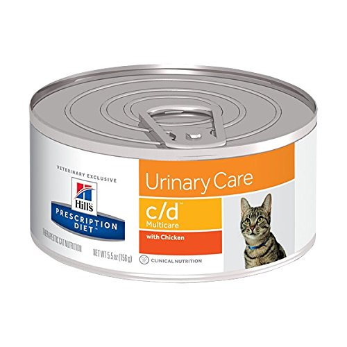 hill' S Prescription Diet C/D, for Cat Food with Chicken Flavour, 156 g, 1 piece
