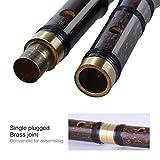 ammoon Pluggable Handmade Bambou Bitter Flûte / Dizi Chinois Traditionnel Instrument Musical Woodwind en F clé pour Débutant Niveau d\'étude