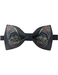 Cdet Pajaritas íneas finas de jacquard de seda de poliéster corbata de moño lazos de mariposa regalo de boda de negocios,Azul marino