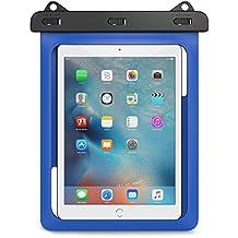 MoKo Funda Impermeable - Universal Waterproof Para Actividades al Aire Libre, Se Ajusta para iPad Pro 9.7, iPad 2 / 3 / 4, Tab A 9.7 / Tab E 9.6 y Otras Tabletas de 10 Pulgadas, Azul