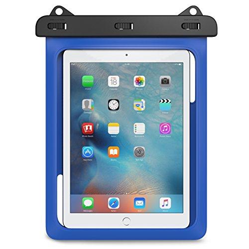 MoKo Wasserdichte Hülle Tasche Beachbag mit Halsband für iPhone X 8 5 5S 5SE 6 6S Plus,Huawei mate10 Samsung Galaxy S5 S6 S7 J5 A5, bis zu 10 Zoll Smartphone,IPX8, Blau (Ipod Touch 6 Gehäuse Wasserdicht)
