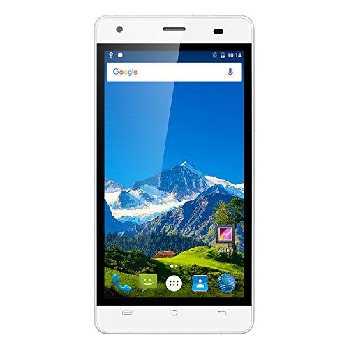 Cubot Echo Smartphone 3G Android 6.0 ( MT6580 Quad Core 1.3GHz, 5.0'' IPS HD Schermo, 2GB RAM 16GB ROM, 5MP+13MP Camera, 3000mAh Batteria, WiFi, HotKnot, Smart Wake, Dual SIM, OTG ) Bianco