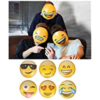 Fantastic 6 x EMOJI MASKS Adults Kids Smiley Icon Face Mask Party Game Fun Photo Shoot UK by Lizzy®