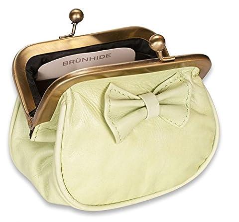 Brunhide - Porte-monnaie pour femme - cuir véritable - fermoir à clip - # 230-400