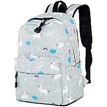 Mochila para Escuela Chicas Adolescentes Talega de libros Conjunto Resistente al agua Ordenador portátil Daypack