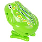 Domybest Wind Up Kunststoff Uhrwerk niedlich springen Frosch Wind up Spielzeug Baby Spielzeug