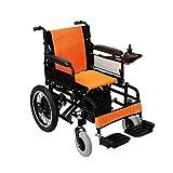 JU FU Rollstuhl, untauglicher älterer elektrischer Rollstuhl, beweglicher Roller des Aluminiums, Last 100kg | (Farbe : 12A)
