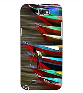ColourCraft Racing Boats Design Back Case Cover for SAMSUNG GALAXY NOTE 2 N7100