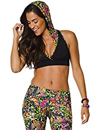 Zumba Fitness Mashed Up Soutien-gorge à capuche Femme Back to