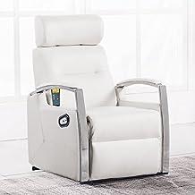 Sillón relax con masaje y calor lumbar y función levantapersonas modelo Avant color blanco – Sedutahome