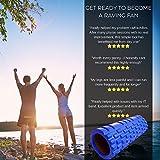 Fit Nation Faszienrolle - Foam Roller Set zur Selbstmassage mit Übungsbuch - Sport Massagerolle Für Anfänger, Profis, Damen & Herren - Blau -