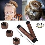 ochioly Haar Bun Maker, Größe 15cm Magic Dutt Donut Shaper Hair Styling für Kinder Curler Roller Gericht Headbands, 3Pack