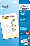 Avery Zweckform 2596-50 Classic Inkjet Papier (A4, einseitig beschichtet, matt, 120 g/m²) 50 Blatt