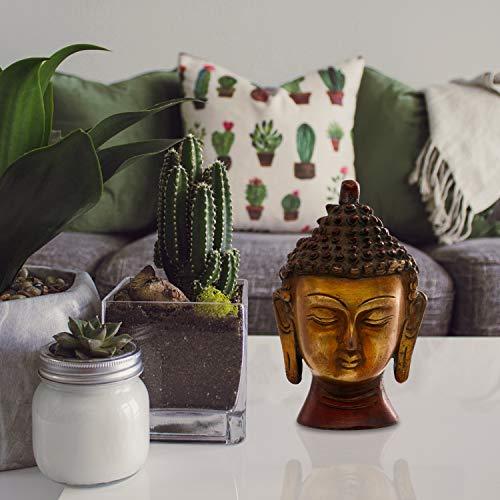 Statue of Buddha-Gesicht (Höhe 10,5cm)-Die Lächeln auf die Statue Auch Zeigt Das Serene Natur und Adel der Buddha Nach Erlangen Erleuchtung ()