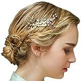 Vintage Gold Braut Haar Kamm Crystal Strass Perlen Hochzeit Haarschmuck