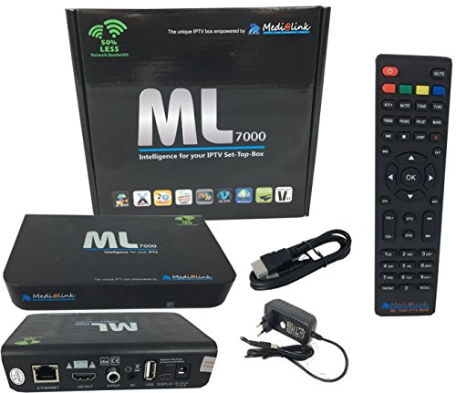 Medialink 7000 IPTV SET TOP BOX Multimedia Player Internet TV IP Receiver + M@tec HDMI Kabel