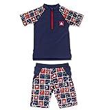 Sterntaler Baby-Jungen Badebekleidungsset 2-Tlg. Schwimmanzug, Blau (Marine 300), 92
