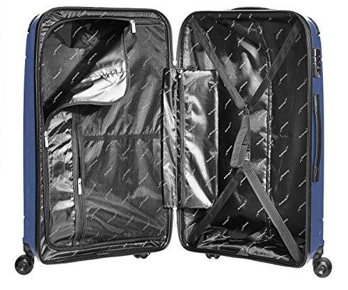 Packenger Premium Hartschalen PP Koffer Silent 24 Zoll (Dunkelblau) -