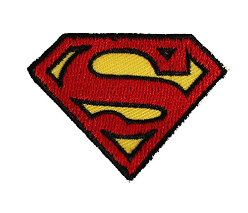 DC Comics Superman Logo PATCH - Officially Licensed Original Artwork, 1.6