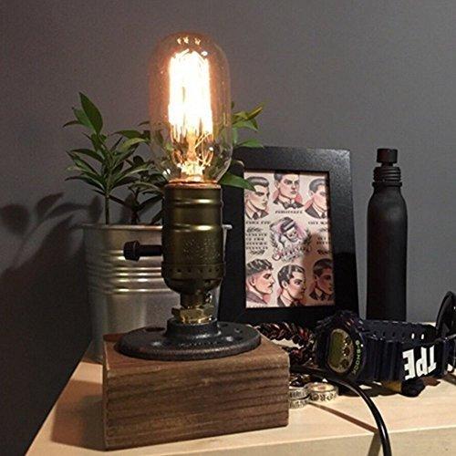 rh-mall Tischleuchte, der Lampe von Edison T45Weinmotiv, Dachboden Schlauch D 'Eau à dimmbar Stange-Haus der Licht Dekoration