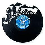 Uhren, Geschenkidee, Mountainbike, Geschenkidee für Radfahrer, Uhr aus Vinyl, Wanduhr, Fahrradzubehör, Giro d'Italia, Tour de France, original, Vinyluse.