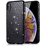 IPhone Xr Back Case, Codream Stylish Thin Bumper Shockproof Girls Protective Cover Case With Corner Protection Design For IPhone Xr Back (Black)