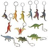 MagiDeal 12pcs Coloful Dinosaur Pendant Keychain Charm Keyring Holder Novelty Gifts