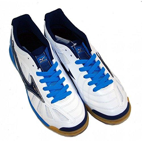 Chaussures de Futsal Indoor, Mizuno Sala Premium en blanc BIANCO-BLU