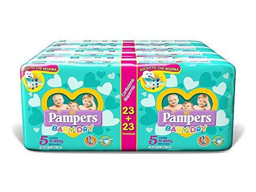 Pampers Baby Dry Duo Junior, 184 Pannolini, Taglia 5 (11-25 kg)