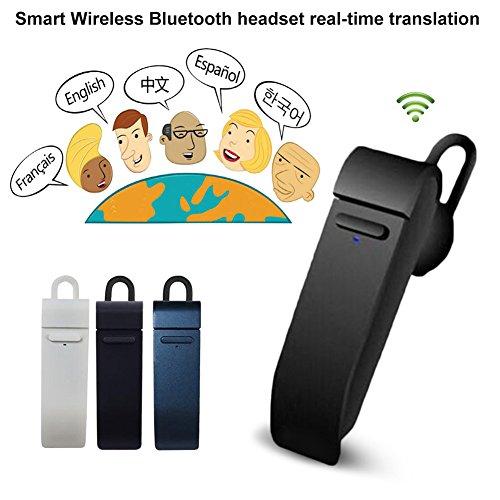 Drahtloser tragbarer Kopfhörer, Smart Translator, Bluetooth-Gerät, Echtzeit-Übersetzung, IOS, unterstützt 16 Sprachen u.a. Englisch, Chinesisch, Französisch, Spanisch und Japanisch Tragbare Elektronische Key Finder