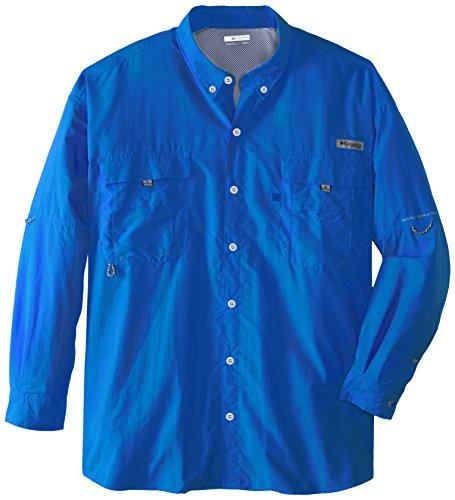 Columbia Men's Bahama II Long Sleeve Shirt, 4X, Vivid Blue (Blau Vivid Kleidung)