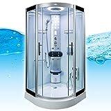 AcquaVapore DTP8058-6002 Dusche Dampfdusche Duschtempel Duschkabine 100×100 XL, EasyClean Versiegelung der Scheiben:2K Scheiben Versiegelung +89.-EUR - 4