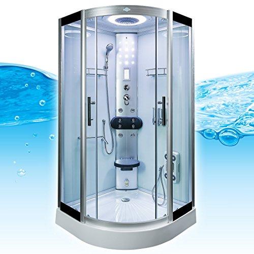 AcquaVapore DTP8058-5002 Dusche Dampfdusche Duschtempel Duschkabine 90x90 XL, EasyClean Versiegelung der Scheiben:2K Scheiben Versiegelung +89.-EUR - 4