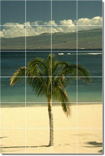 PLAYA FOTO DUCHA MURAL DE AZULEJOS 20  32X 48CM CON (24) 8X 8AZULEJOS DE CERAMICA