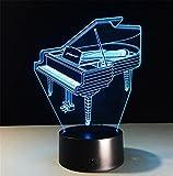 Tischleuchte Piano Schreibtischlampe 3d 7 Farben ändern Noten-Schalter Fernbedienung Tabelle LED-Licht-Nachtbeleuchtung Hauptdekoration Haushaltszubehör
