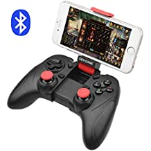 ALLCACA Controlador de Juego Bluetooth Gamepad Inalámbrico Recargable con Función de Vibración, Compatible con Android y IOS Teléfono, Tableta, TV, TV Box, VR, Negro