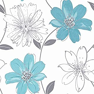 Arthouse 406009 Wallpaper, Wallcovering, Aqua