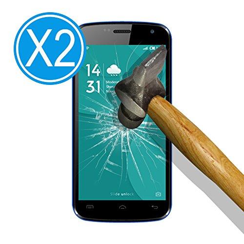 WoowCase 9H Tempered Glass [2 Stück] Premium Hartglas Bildschirmschutzfolie für [ Doogee X3 ], Gehärtetem Glas