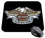 Tappetino per mouse con scritta 'Harley Davidson' e disegno di aquila