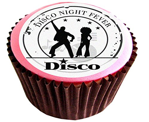 Disco #edible cake toppers (12 of 38mm 1.5inch) #94 by The Lazy Cow