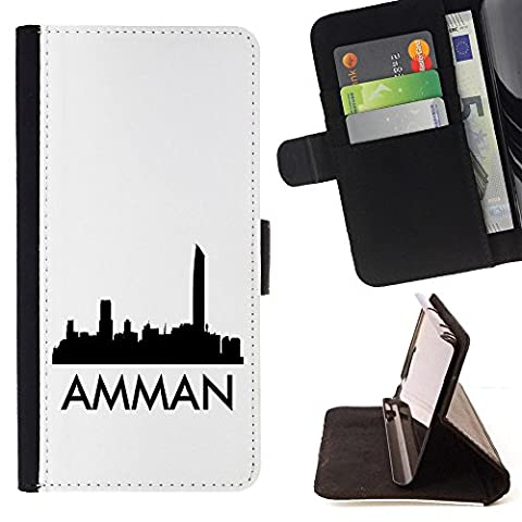 STPlus Amman, Jordan City Skyline Silhouette Postcard Wallet Card Holder Cover Case for LG K3