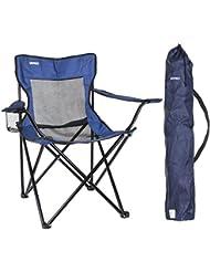 URPRO Sillas,Silla Camping Silla Playa para Camping, Senderismo, Playa, Pesca, Silla de Camping Ligera Azul Marino