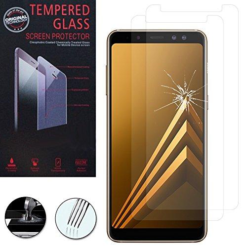 ShopInSmart® 2x Hochwertige gehärtete Panzerglasfolie für Samsung Galaxy A8 (2018) A530F 5.6