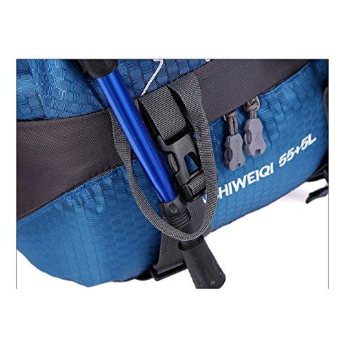 OSOPOLA groß 50L Wander Zelten Outdoor Sport Rucksack Wasserbeständigkeit Tagesrucksack Reisen Racksuck für Neu Damen mit internem Rahmen Grün