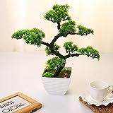 Home decoration-artificial Bonsai Pflanze Blume Künstliche Japanische Kiefer Bonsai für draußen Home Tisch Küche Büro Hochzeit Garten Dekoration, 34cm/34cm, 8